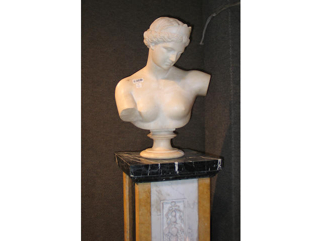 An Italian marble bust of female goddess