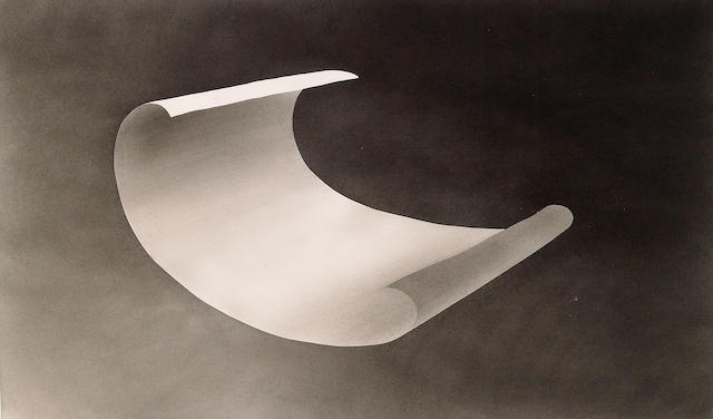 Edward Ruscha (American b. 1937) Wind Blown Paper, 1975 (D1975.32) 14 x 23in (36 x 58 1/2cm)