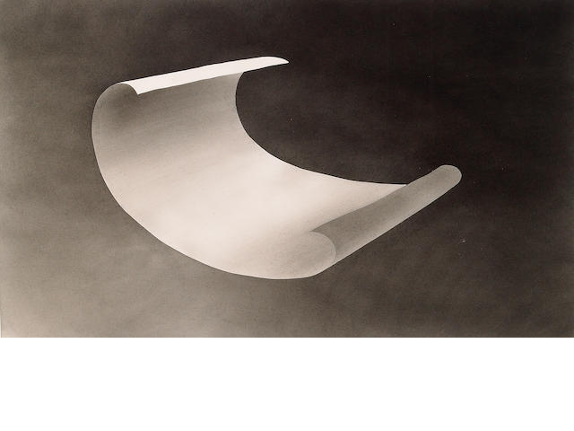 Edward Ruscha (American b. 1937) Wind Blown Paper, 1975 14 x 23in (36 x 58 1/2cm)