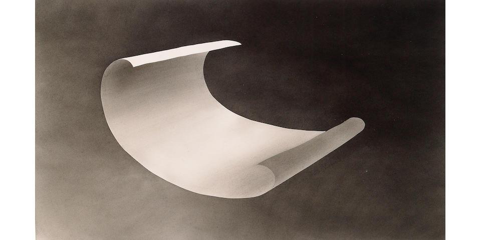 Edward Ruscha (American b. 1937) Wind Blown Paper, 1975 (D1975.32) 14 x 23in (36 x 58 1/2cm)
