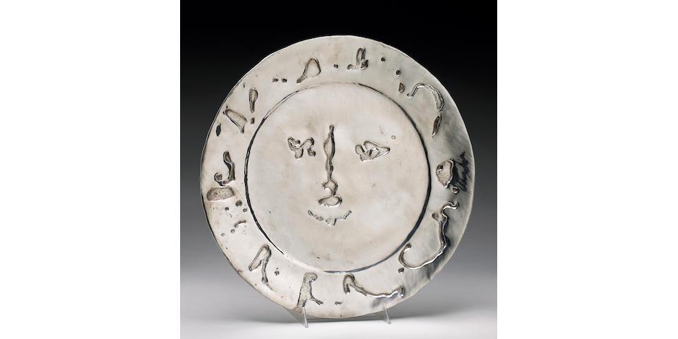 Pablo Picasso; Visage larvae;