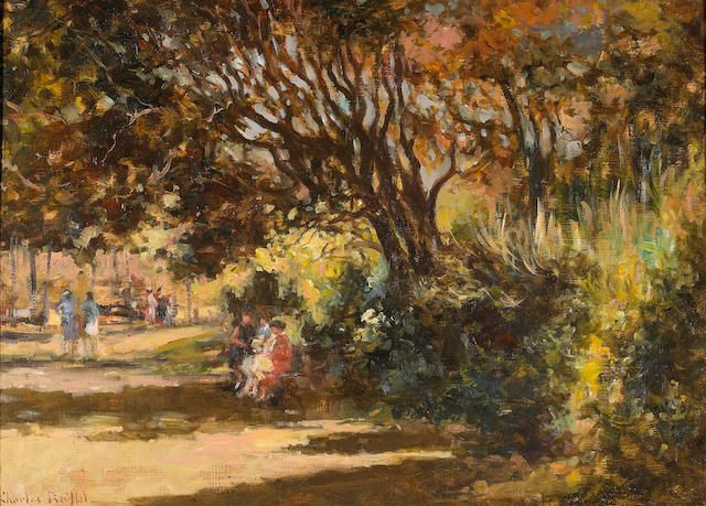 Charles Reiffel (1862-1942) An Afternoon in the Park 13 x 18in