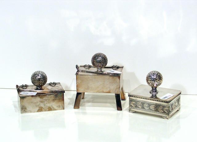 A silver electro-plated Derby Silver Company cigarette box, circa 1920s,