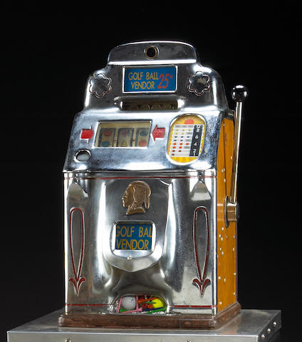 A large commercial slot machine by Jennings of Chicago,