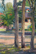 Joseph Kleitsch (1882-1931) Laguna Village (Corner of Laguna Avenue and Glenneyre Street), circa 1920 18 x 20in