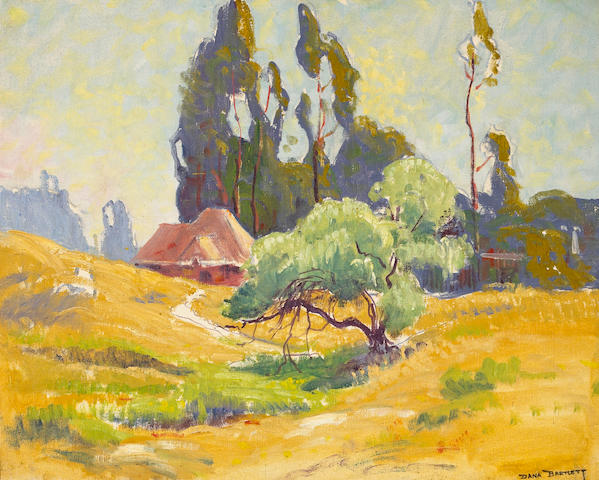 Dana Bartlett (1882-1957) Early Pasadena 16 x 20in