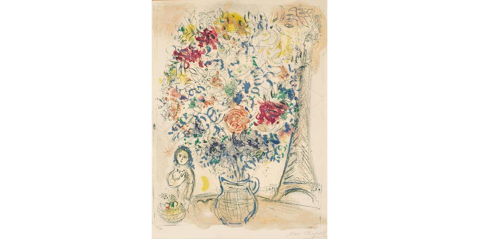 Marc Chagall; Bouquet à la Tour Eiffel;