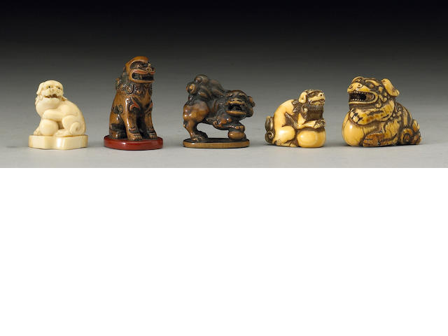 Five shishi studies 19th Century