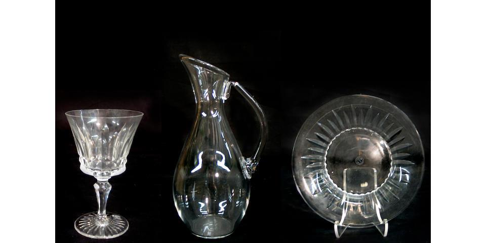 A Baccarat crystal stemware service