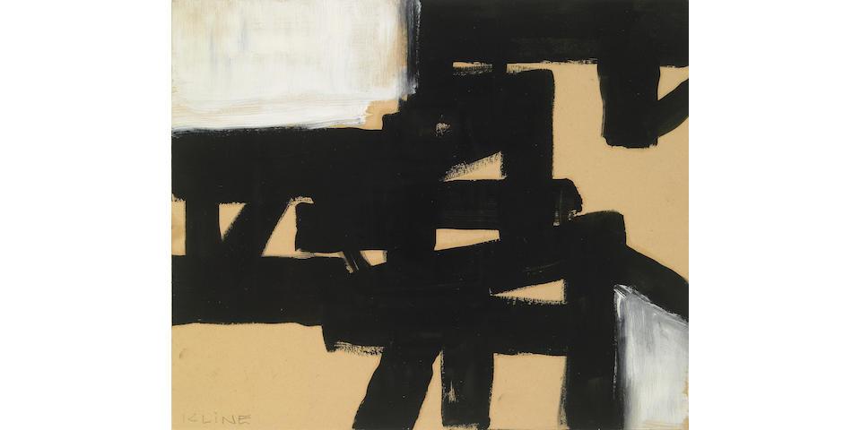 Franz Kline (American 1910-1962) Untitled, 1952 9 x 10½in (23 x 27cm)