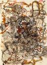 Ed Moses  (American b. 1926) Jac-Wag #1 (Branco Series), 1992  Unititled (Branco Series), 1990 (2) 34¼ x 25¼in (87 x 64cm); 41 x 30¾in (104 x 778cm)