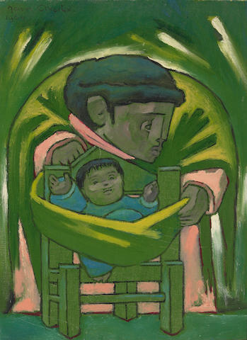 Jean Charlot (French/American 1898-1979)  Mother and Child, 1964 16 x 12in (41 x 30½cm)