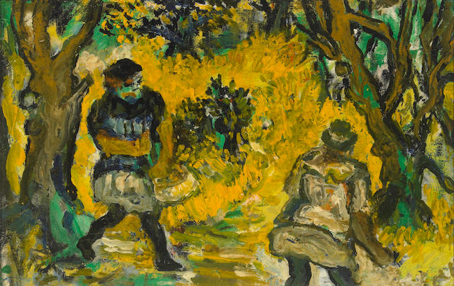 Sacha Moldovan (Russian/American 1901-1982) Evasion, c.1962 14 x 22in (36 x 56cm)