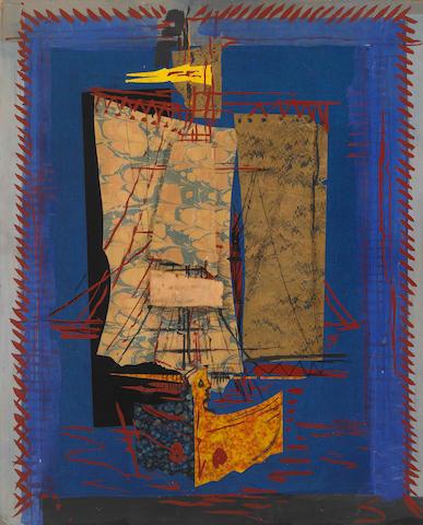 Ismael González de la Serna  (Spanish 1898-1968) Bateau, c.1935 31¼ x 25¼in (80 x 64cm)