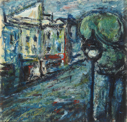 Paul Aizpiri (French, 1919)   (French b. 1919) Place St. Medard 9½ x 10in (24 x 25cm)