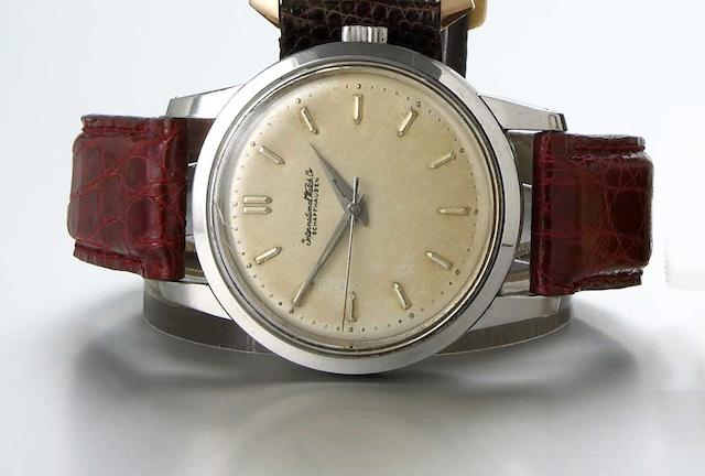 International Watch Co. Schaffhausen. A staybrite steel self-winding antimagnetic wristwatchIngenieur, 1950s