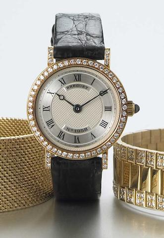 Breguet. A Lady's 18k gold and diamond set wristwatch  No.1958, circa 2000