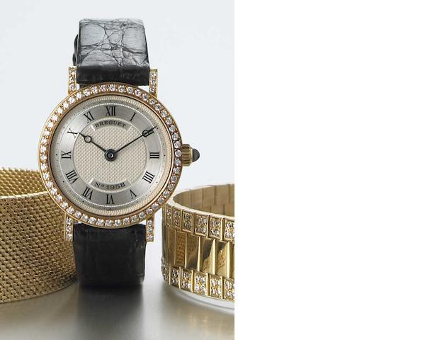 Breguet. A Lady's 18k gold and diamond set wristwatch  No.1958, circa 2000