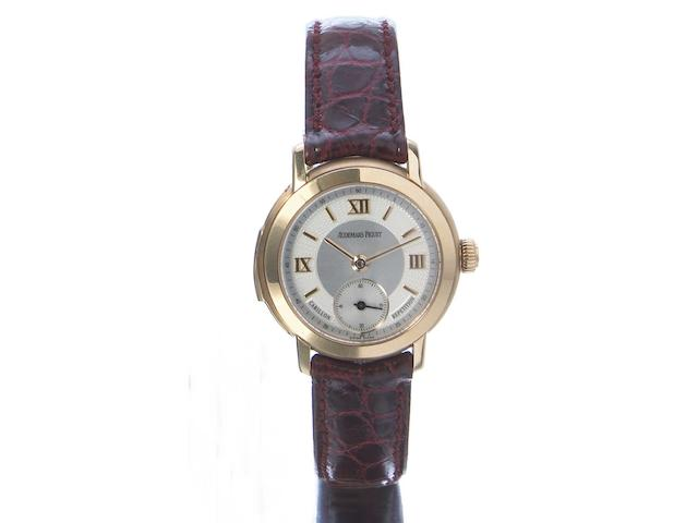 Audemars Piguet. A very fine and rare Lady's 18k pink gold Minute Repeating Carillon wristwatch  Ref.25818OR, No 3. Case No. D87871, Movement No.456535, circa 2004