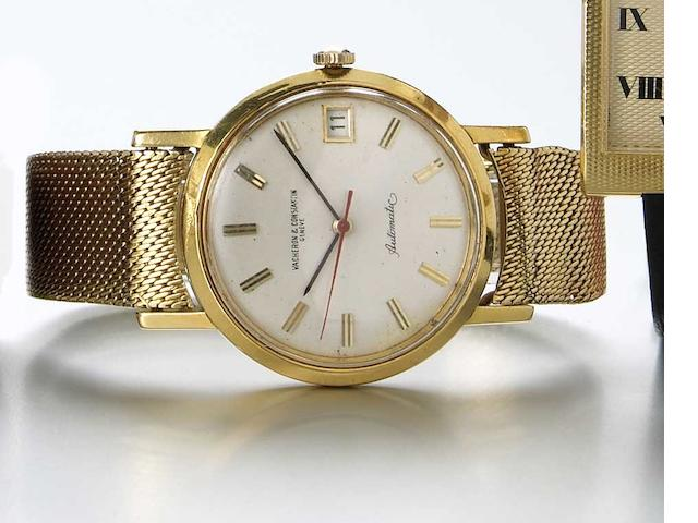 Vacheron & Constantin. An 18k gold self-winding wristwatch with date on bracelet Ref.6594, Case No.402117, Movement No.554748, circa 1964