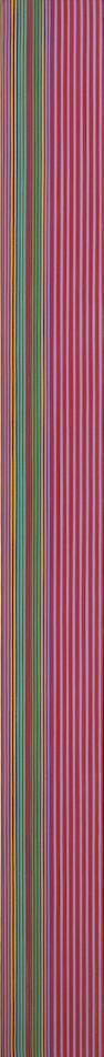 Gene Davis  (American 1920-1985) Firecracker, 1968 89 x 9in (226 x 23cm)