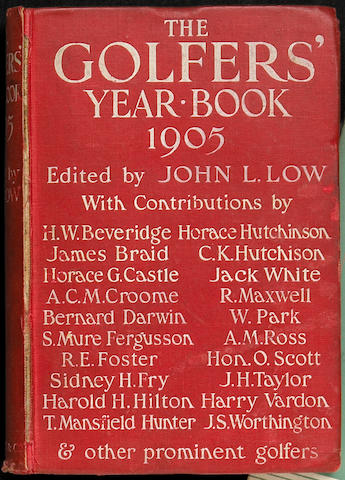 A scarce copy of The Golfers Year Book 1905.