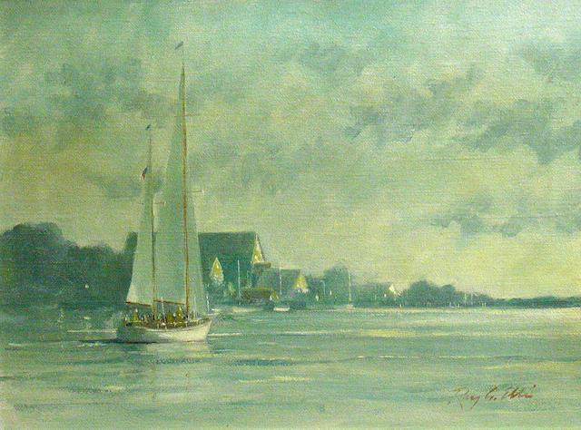 Ray Ellis (American b.1921) Morning light 12 x 16in