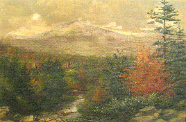 Anna C. Freeland (American 1837-1911) An autumn landscape in the mountains, 1891 12 x 18in