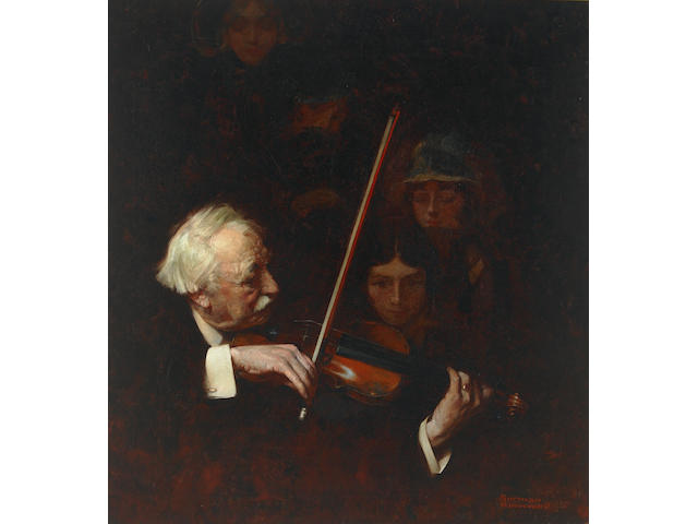 Norman Percevel Rockwell (1894-1978) The Violinist 26 x 24in