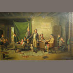 C. Schmidt (after Hunt), Classroom Scene, o/c 24 x 36in