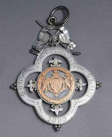 A fine Clarendon Golf Club medal with silver loop, circa 1895,
