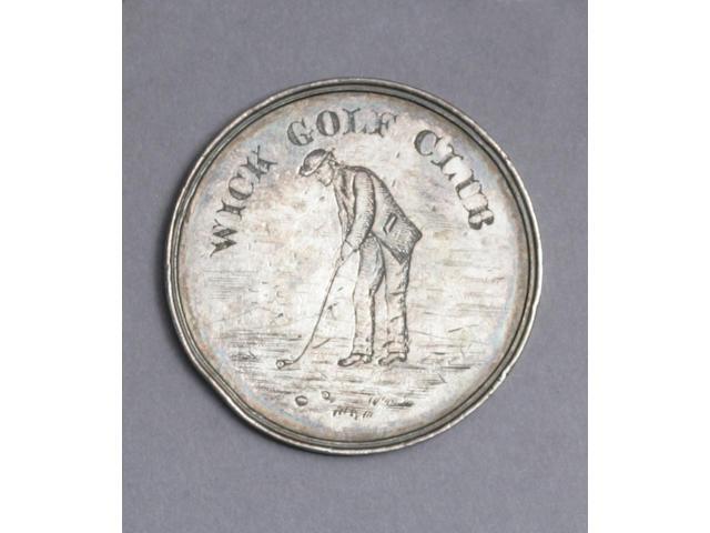 A circular shaped Glennie Medal from the Wick Golf Club, circa 1871,