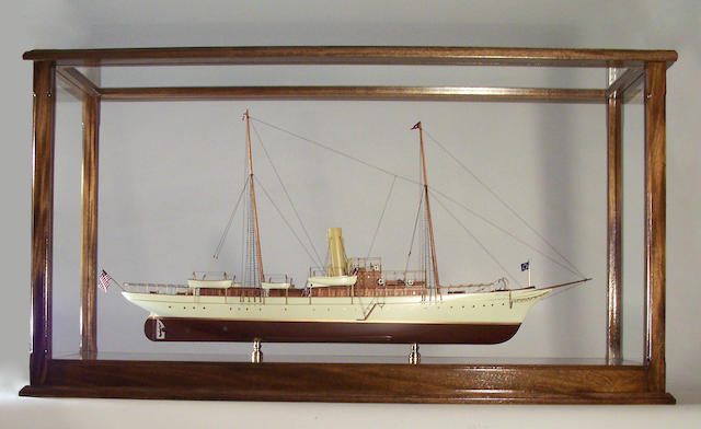 "A scale model of the New York Yacht Club Steam Yacht ""North Star"", 20th century, 39 in long"