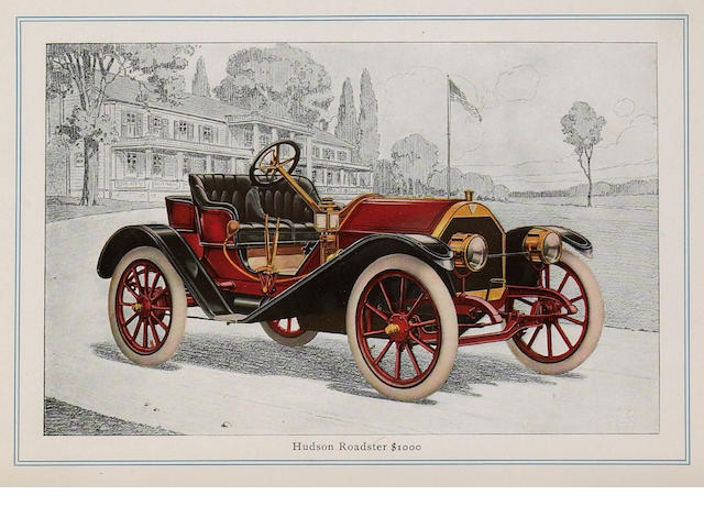 Hudson sales catalogue, 1910,