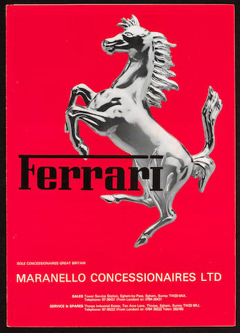 Assorted Ferrari ephemera,