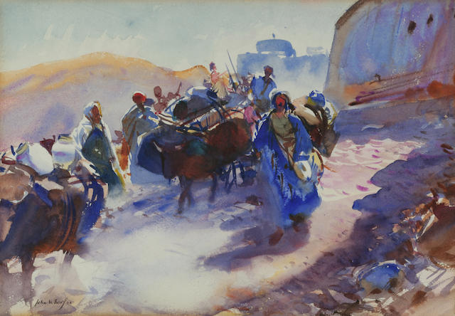John Whorf (1903-1959) Song of the Road 13 x 20in