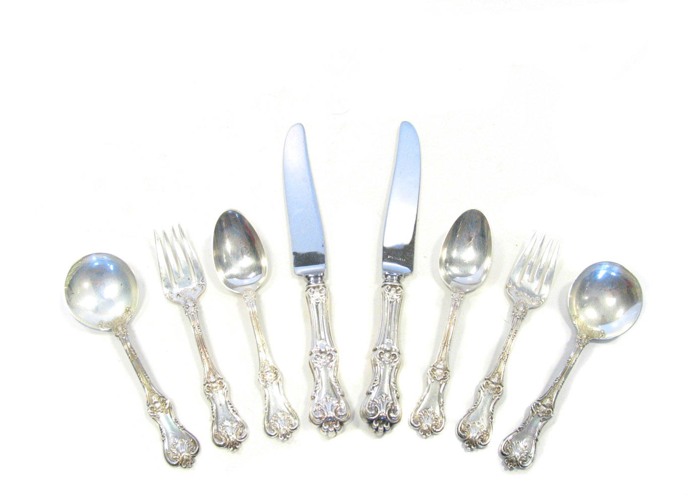 Federal Cotillion By Frank Smith Sterling Silver Dinner Setting 4-Piece