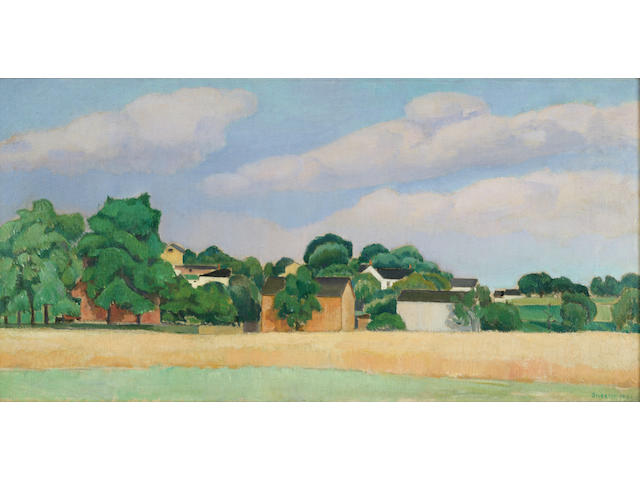 Charles R. Sheeler (1883-1965) Farm 10 x 20in