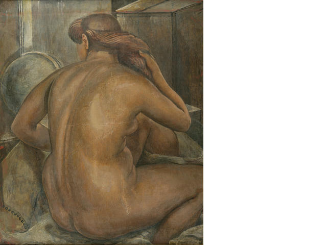 Isabel Bishop (1902-1988) Nude 36 x 30in