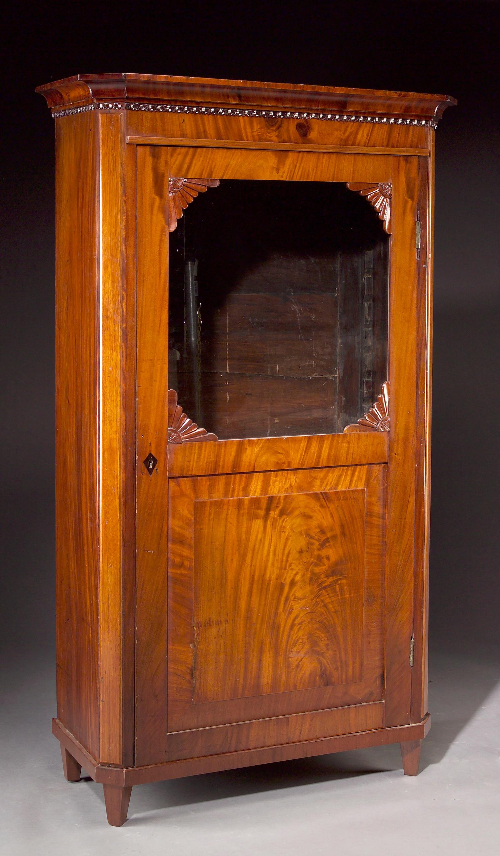 Expressive An Edward Vii Mahogany And Burr Walnut Wardrobe Good Condition !!! Antiques