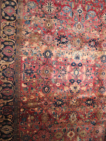 A Mahal carpet size approximately 12ft 9in x 9ft 8in