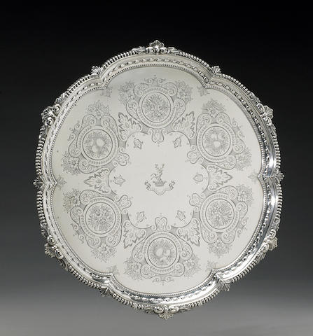 Edward VII Silver Salver by Wm. Comyns