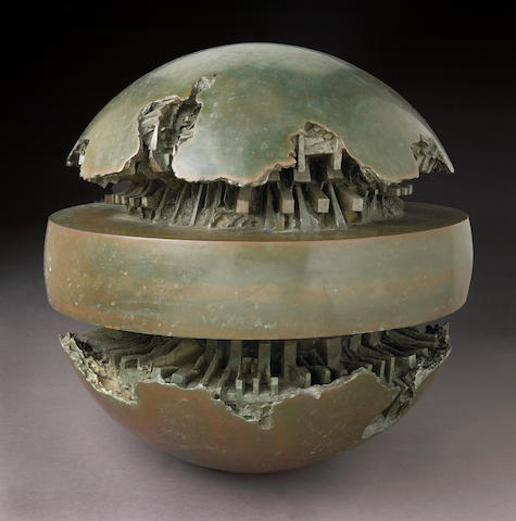 Arnaldo Pomodoro (Italian, b.1926) Sphere bronze sculpture