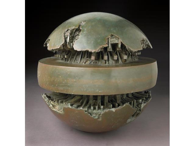 Arnaldo Pomodoro (Italian b.1926) Rotante Primo Sezionale, 1966 diameter 31 1/2in (80cm)