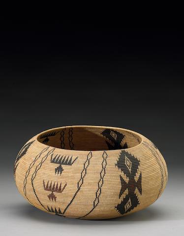 A Paiute polychrome basket, Tina Young Charlie