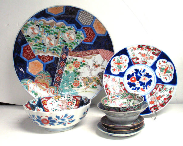 Twelve Japanese and Chinese ceramic table wares