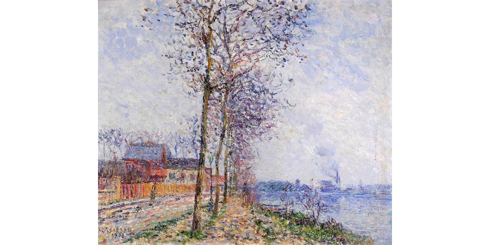 Gustave Loiseau (French 1865-1935) L'Oise à Pontoise, 1931 24 x 29in (61 x 73.7cm)