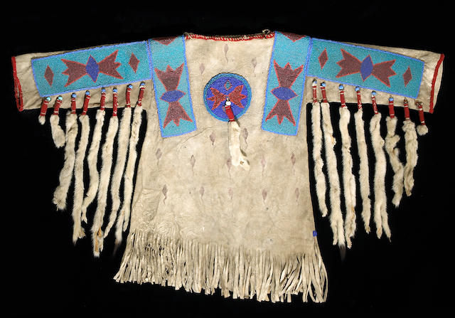 A Blackfoot beaded boy's shirt