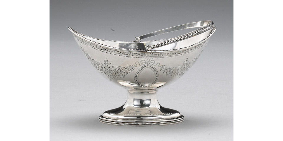 George III Silver Sugar Basket by Hester Bateman