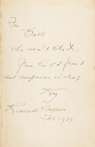 CHANDLER, RAYMOND. The Big Sleep. 1st ed. Signed and inscribed to William E. Lever, w/photo.